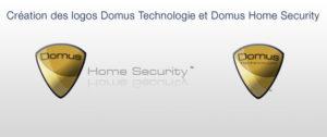 logo domus technologie et logo Domus Home Security
